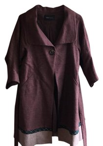 BCBGMAXAZRIA burgundy, cream, green Jacket