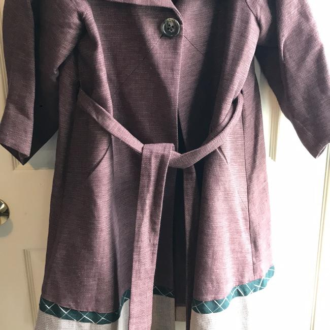 BCBGMAXAZRIA burgundy, cream, green Jacket Image 2