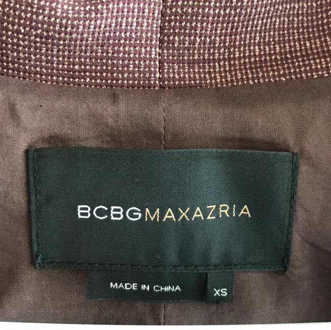 BCBGMAXAZRIA burgundy, cream, green Jacket Image 3