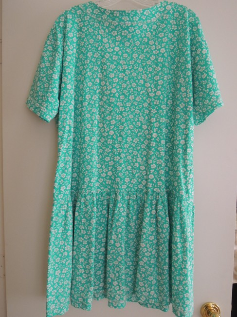 Leisure Wear by Adonna short dress White Flowers on Jade Green on Tradesy Image 1