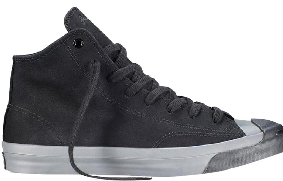 6147470d7d61 Converse Black Purcell Jack Mid Top Monochrome Nubuck Sneakers Size ...