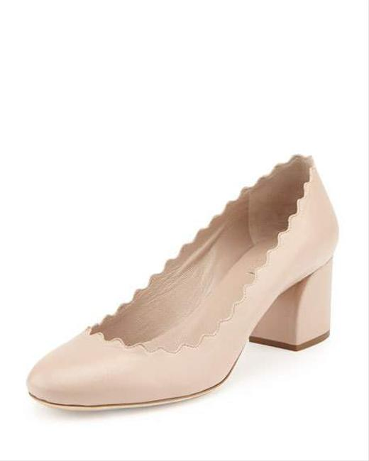 Chloé Light Pink Scalloped Leather Pumps Size EU 38 (Approx. US 8) Regular (M, B) Chloé Light Pink Scalloped Leather Pumps Size EU 38 (Approx. US 8) Regular (M, B) Image 1