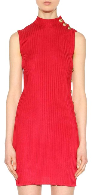 Item - Red New Tags Paris Sexy Gold Button Mini 38 Short Night Out Dress Size 6 (S)