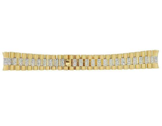 Jewelry Unlimited President VS Diamond Watch Band Day-Date in 14K Yellow Gold 7.5 Ct Image 2