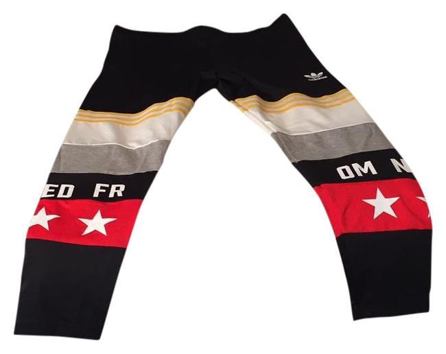 Item - Black with Yellow Red White and Grey Trim Rita Oro Banned From Normal Tights Activewear Bottoms Size 16 (XL, Plus 0x)