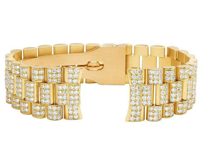 Jewelry Unlimited Yellow Gold President Vs Diamond Band Day-date In 18k 12 Ct Watch Jewelry Unlimited Yellow Gold President Vs Diamond Band Day-date In 18k 12 Ct Watch Image 1