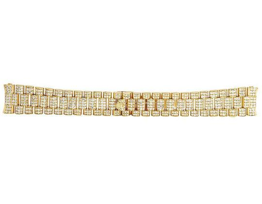 Jewelry Unlimited President VS Diamond Watch Band Day-Date in 18K Yellow Gold 12 Ct Image 2