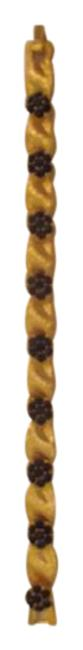 Trifari Gold Tone with Garnet Stones By Bracelet Trifari Gold Tone with Garnet Stones By Bracelet Image 1