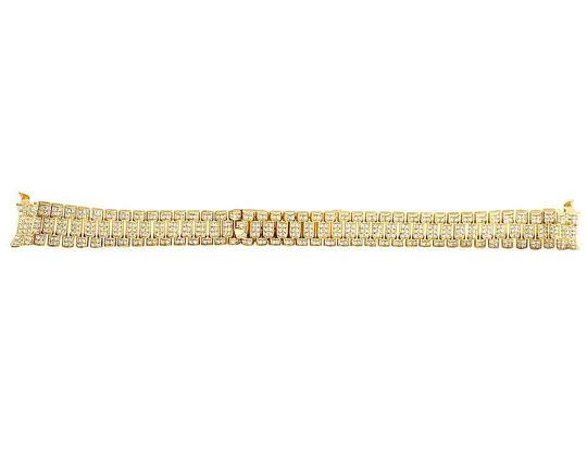 Jewelry Unlimited Ladies President VS Diamond Watch Band Datejust in 18K Yellow Gold 7Ct Image 2