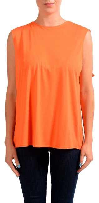 MM6 Maison Martin Margiela Orange Sleeveless Women's Blouse Size 8 (M) MM6 Maison Martin Margiela Orange Sleeveless Women's Blouse Size 8 (M) Image 1
