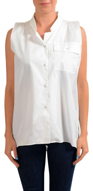 Item - White V-6728-s Button-down Top Size 4 (S)