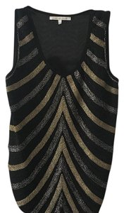 English Rose Top black, gold and silver