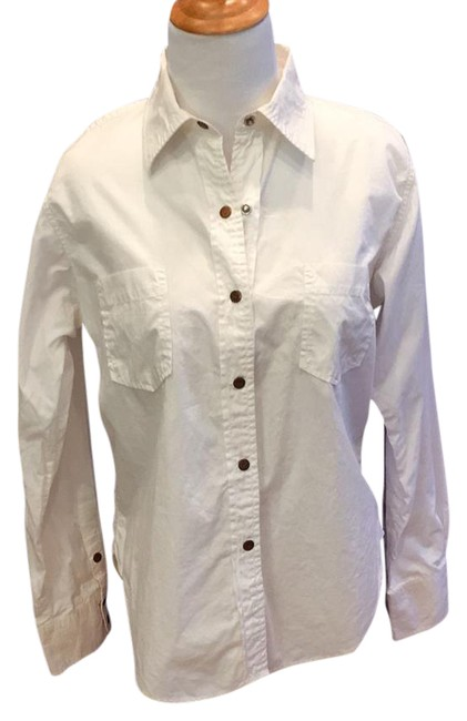 Preload https://img-static.tradesy.com/item/21822660/todd-oldham-white-vintage-1990s-shirt-with-snap-front-blouse-size-12-l-0-1-650-650.jpg