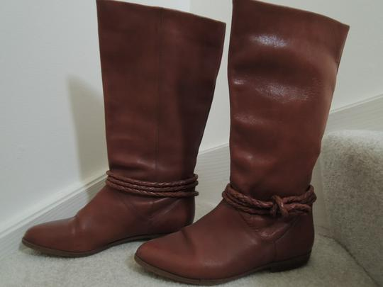 Allegre Braid Accent Suede Lined warm brown Boots Image 2