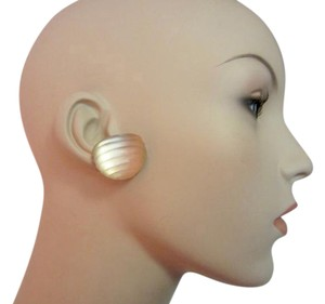 Alexis Bittar Hand Carved Signed Lucite Clip Earrings