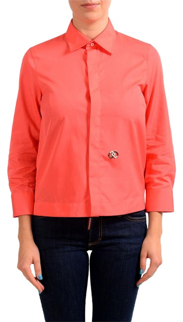 Preload https://img-static.tradesy.com/item/21822719/dsquared2-coral-red-34-sleeve-women-s-shirt-button-down-top-size-8-m-0-1-650-650.jpg