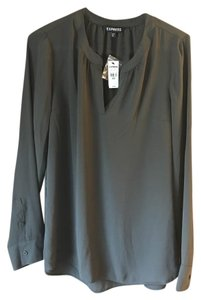 Express New With Tags Longsleeve Polyester Extra Button Tunic