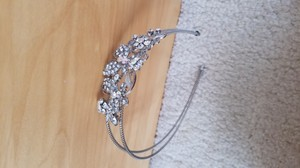 Silver/Irredescent Floral Headband Hair Accessory