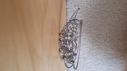 Silver/Irredescent Floral Headband Hair Accessory Image 1