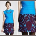 Nanette Lepore Lace Layered Skirt mulberry purple and cyan blue Image 1