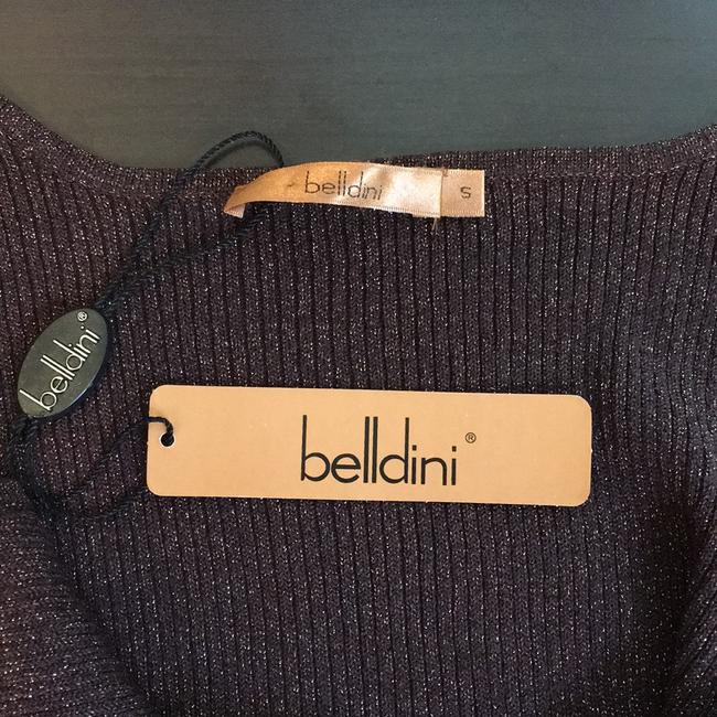 Belldini Silk Shimmer Sparkle Top chocolate brown rose gold Image 3