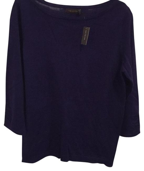 Preload https://img-static.tradesy.com/item/21822828/the-limited-purple-ruched-sleeve-lightweight-sweaterpullover-size-12-l-0-1-650-650.jpg