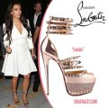 Christian Louboutin Isolde Strass Spikes gold Platforms Image 3