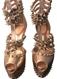 Christian Louboutin Isolde Strass Spikes gold Platforms