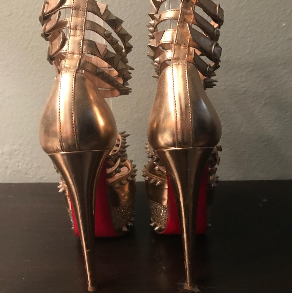16f0a9f7d78 Christian Louboutin Gold Isolde 20th Anniversary Platforms Size US 8.5  Regular (M, B) 69% off retail