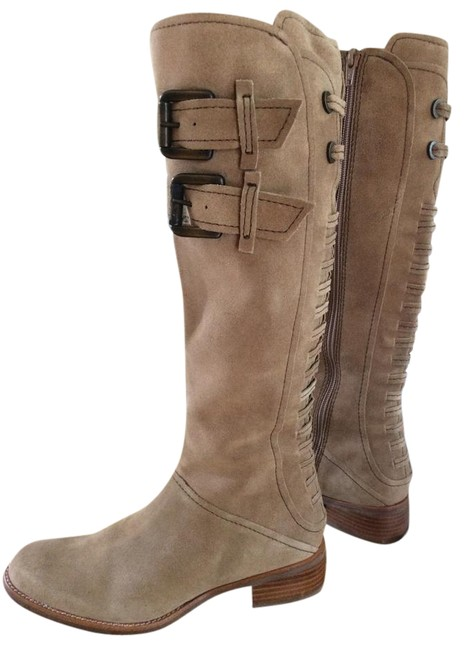 Apepazza Tan Suede Leather Boots/Booties Size US 6.5 Regular (M, B) Apepazza Tan Suede Leather Boots/Booties Size US 6.5 Regular (M, B) Image 1