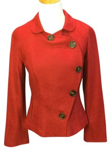 Lela Rose Asymmetric Luxury Curve red Jacket