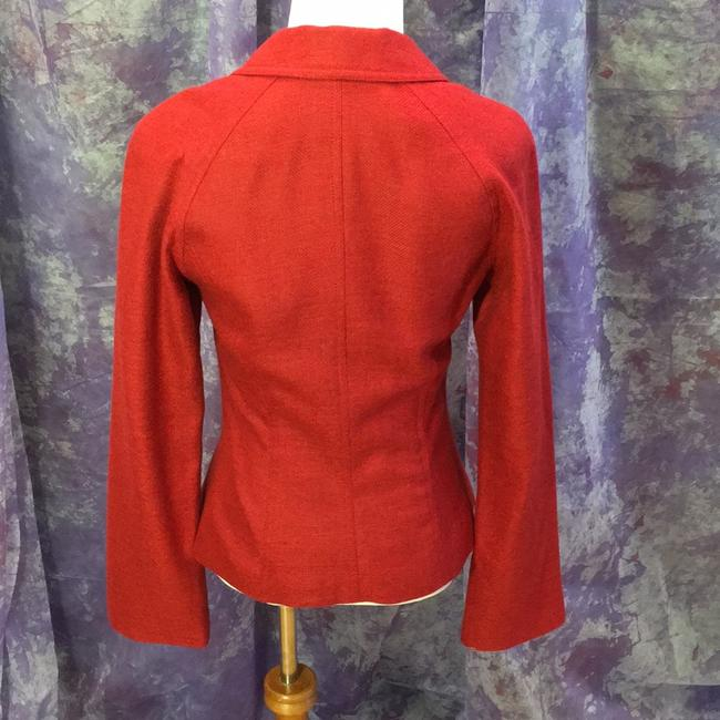 Lela Rose Asymmetric Luxury Curve red Jacket Image 2