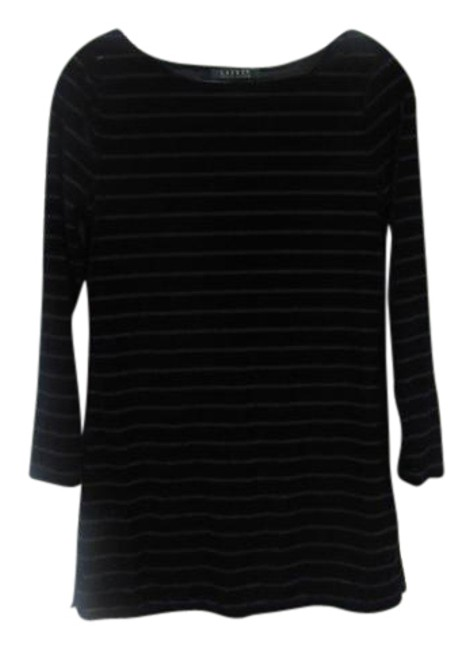 Lauren Ralph Lauren Velvet Striped Top Blue Image 0