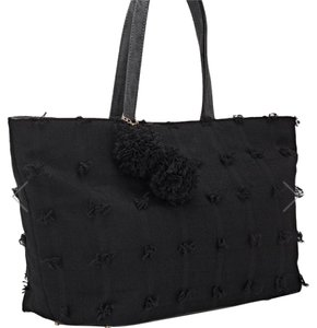deux lux Flowers Barneys New York Faux Leather Free Shipping Tote in Black