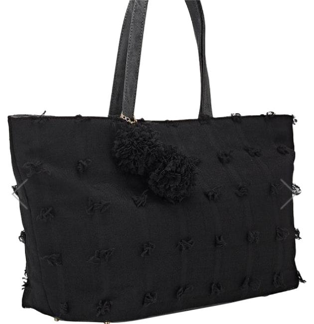 Item - Flower Flower Black Coupe Voile Tote