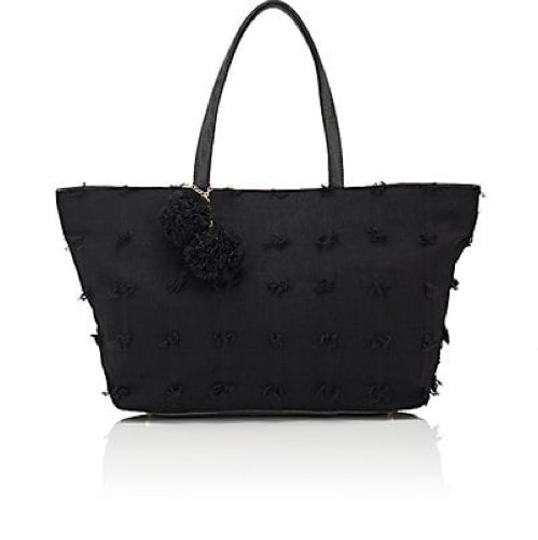 deux lux Flowers Barneys New York Faux Leather Free Shipping Tote in Black Image 2