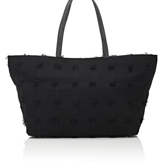 deux lux Flowers Barneys New York Faux Leather Free Shipping Tote in Black Image 3
