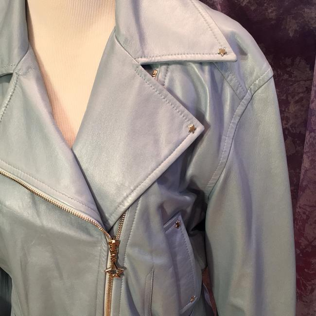 Escada Vintage Leather Metallic Hardware Moto Motorcycle Jacket Image 1