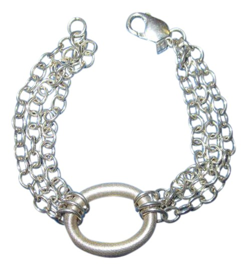 Other 999 Fine Silver Modernist Circle Triple Chain USA Image 0