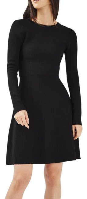 Preload https://img-static.tradesy.com/item/21823201/topshop-black-strap-fit-and-flare-mid-length-cocktail-dress-size-6-s-0-5-650-650.jpg