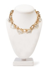 Forever 21 Forever 21 Clear and Gold Necklace