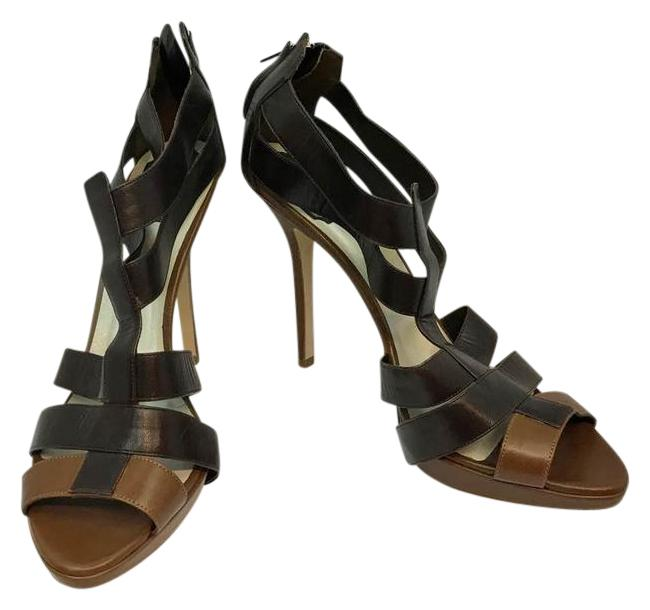 Dior Christian Two Tone Brown Leather Heels Platforms Size EU 41 (Approx. US 11) Regular (M, B) Dior Christian Two Tone Brown Leather Heels Platforms Size EU 41 (Approx. US 11) Regular (M, B) Image 1
