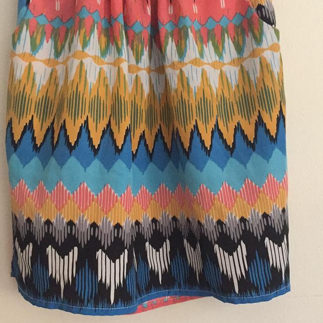 Maude Multicolor Elastic Waistband with Front Pockets Mid-length Short Casual Dress Size OS (one size) Maude Multicolor Elastic Waistband with Front Pockets Mid-length Short Casual Dress Size OS (one size) Image 5