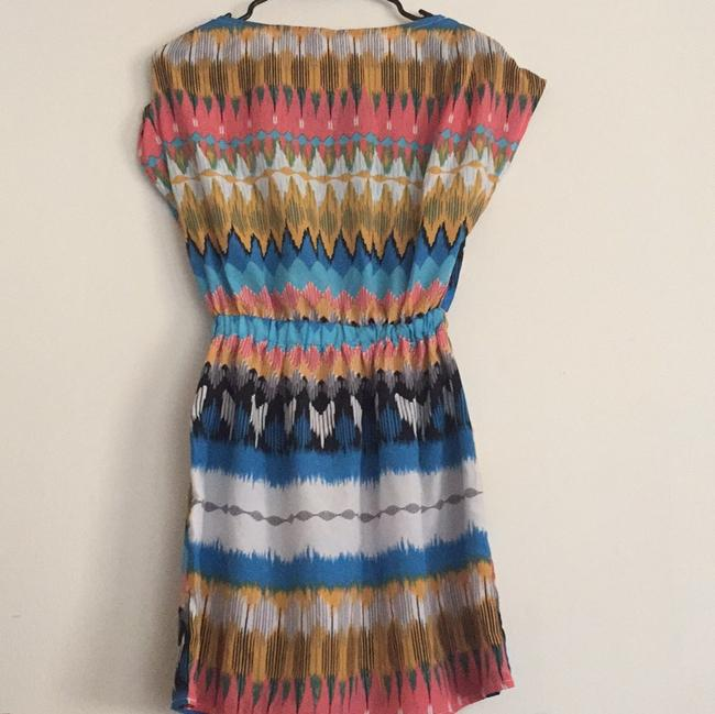 Maude Multicolor Elastic Waistband with Front Pockets Mid-length Short Casual Dress Size OS (one size) Maude Multicolor Elastic Waistband with Front Pockets Mid-length Short Casual Dress Size OS (one size) Image 6