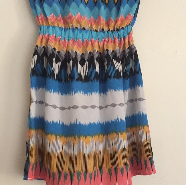 Maude Multicolor Elastic Waistband with Front Pockets Mid-length Short Casual Dress Size OS (one size) Maude Multicolor Elastic Waistband with Front Pockets Mid-length Short Casual Dress Size OS (one size) Image 8