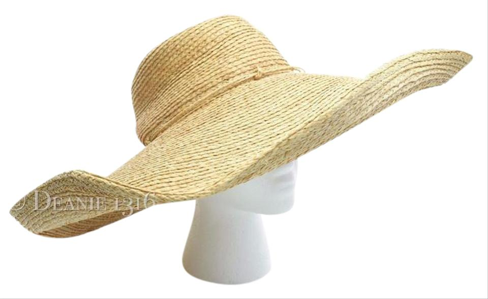 85ea8bc121f1 florabella Florabella Woven Raffia Wide Brim Natural Sunhat New Without Tags  Image 0 ...