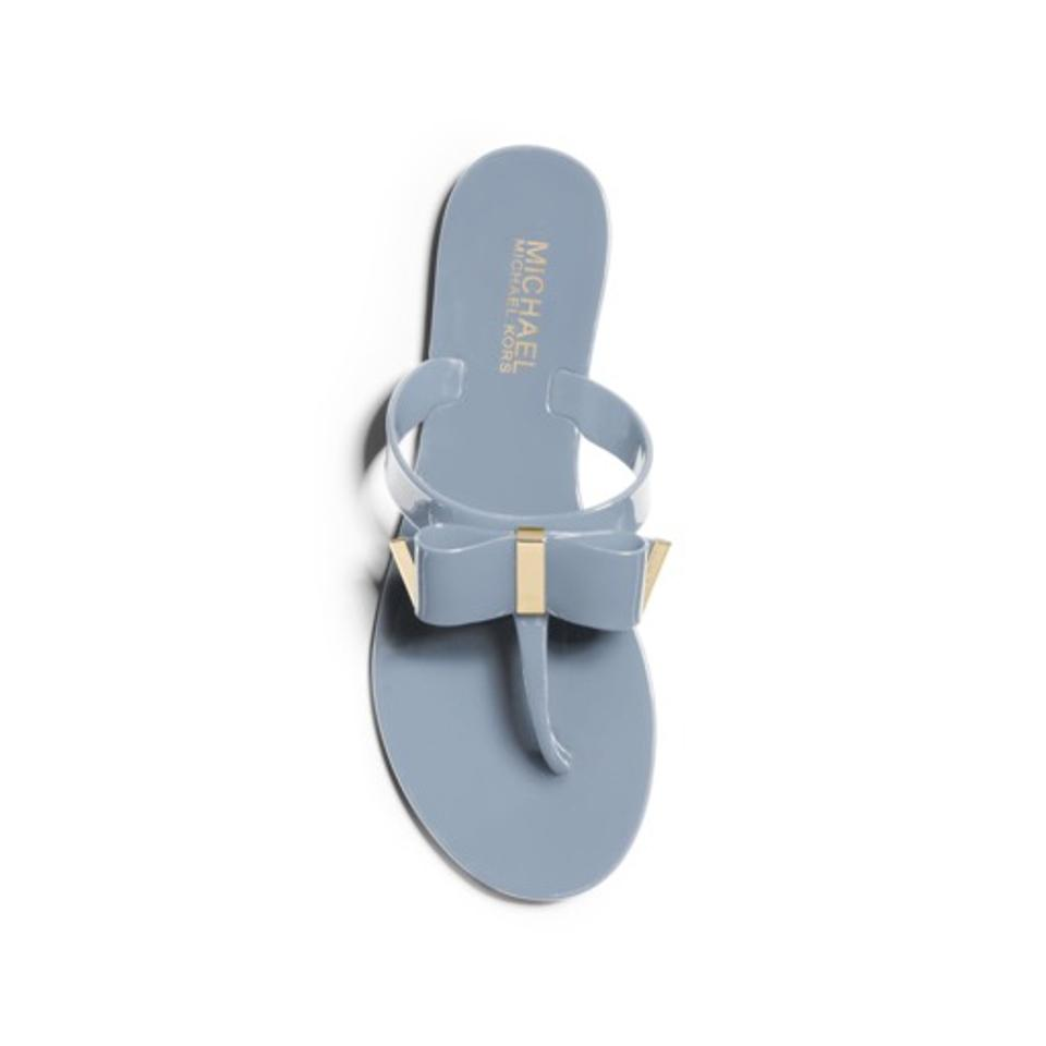 15060e971976 MICHAEL Michael Kors Blue Kayden Jelly Bow Sandals Size US 6 Regular ...