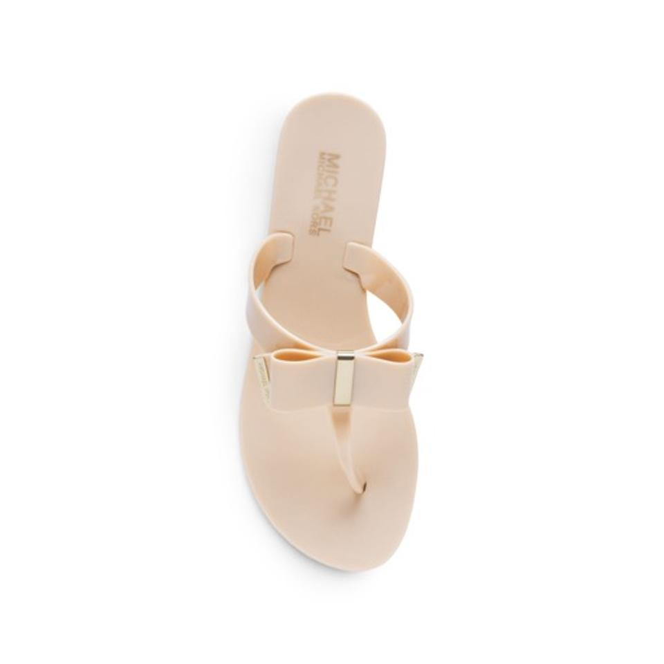 1e478fb72 MICHAEL Michael Kors Natural Kayden Jelly Bow Thong Sandals Size US ...