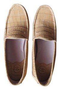 Johnston & Murphy Loafers Driving Mocs Leather New Warm Sand Flats