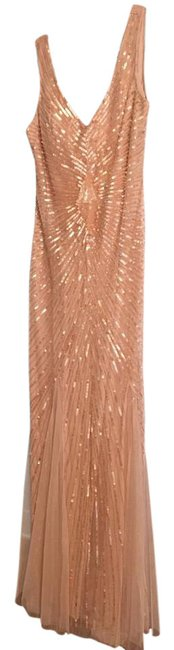 Item - Blush Pink Shell Pink Lining Are Polyester Petal Sequin Godet Gown Formal Bridesmaid/Mob Dress Size 4 (S)